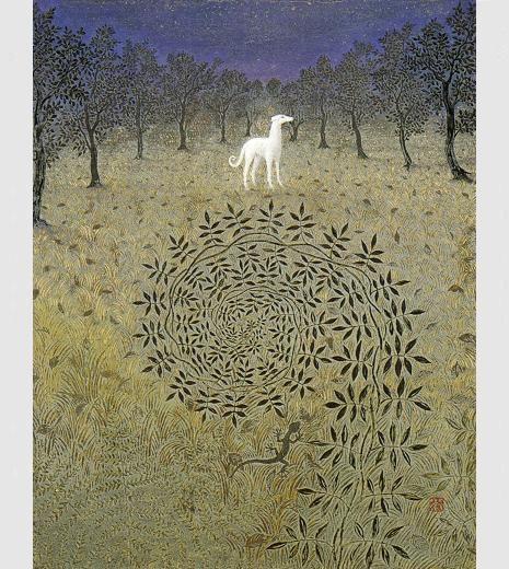 Azur 「月あかりの夜」・6F(1995年) 夜なのにとても明るいと感じるときがある。 子供の頃の夏休み、田舎の家に泊まって、夜中に目を覚ますと。 黒いはずの夜空は青く、暗いはずの地面は明るく、遠くまではっきりと見える。 昼でもない、夜でもない、時間の裏側の世界に迷い込んだみたいに…