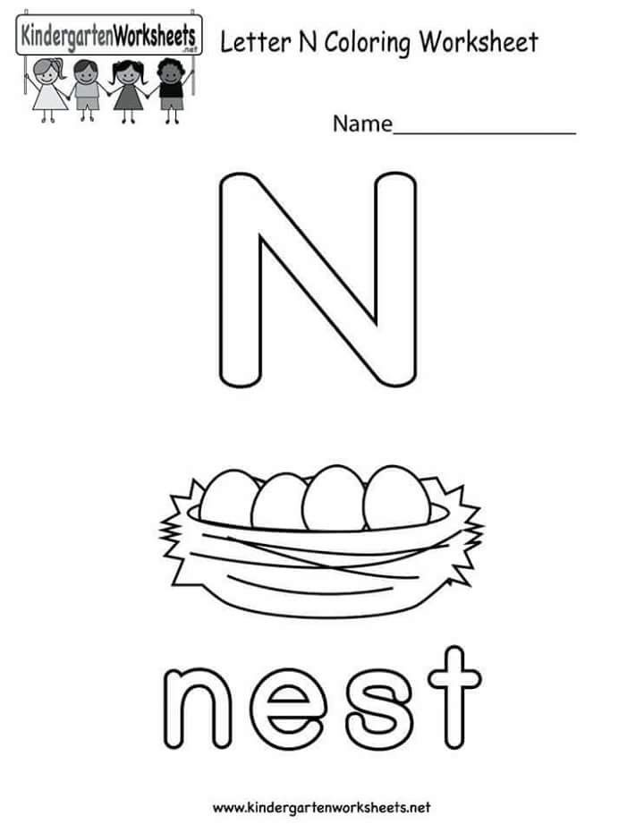 Letter N Letter N Worksheet Preschool Letters Letter Worksheets Printable letter n worksheets