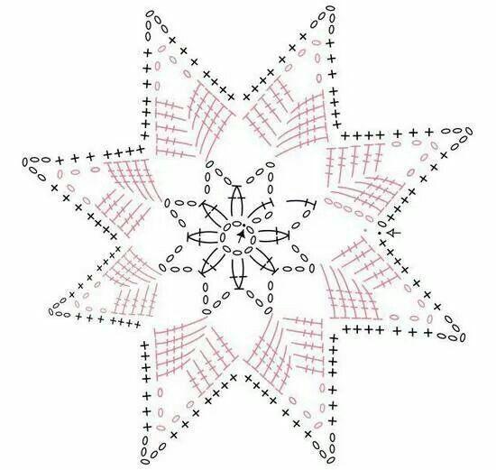 Mejores 23 imágenes de estrella ganchillo en Pinterest | Navidad ...