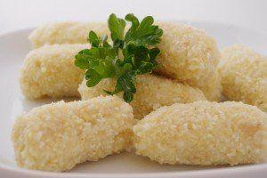Jáhlovo rýžové knedlíky ve tvaru šišek