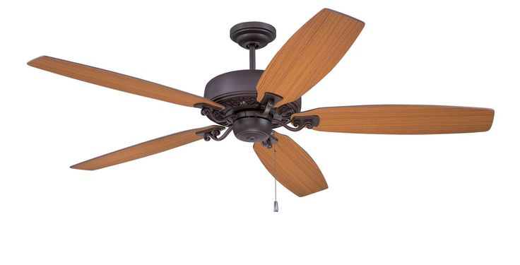 """Ellington Fans PAT64 Patterson 64"""" 5 Blade Hanging Indoor Ceiling Fan with Rever Oiled Bronze Gilded Fans Ceiling Fans Indoor Ceiling Fans"""