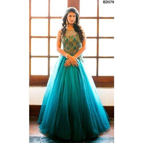 Wedding Gowns Online Shopping: Baby Doll Style Anarkali Frock Glamorous Designer