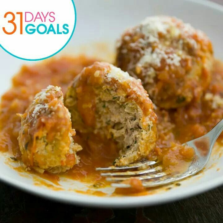 Today's goal is to make a healthy swap!   We've made the swap with this turkey meatball recipe by Chef Curtis Stone! Replace ground beef with ground turkey for a lighter yet equally delicious meatball. Tell us in the comment if you'll make the swap and get the recipe below! http://gohsn.co/fIw02l #31Days31Goals