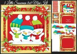 3 Little Snowmen 8x8 Mini Kit on Craftsuprint - View Now!