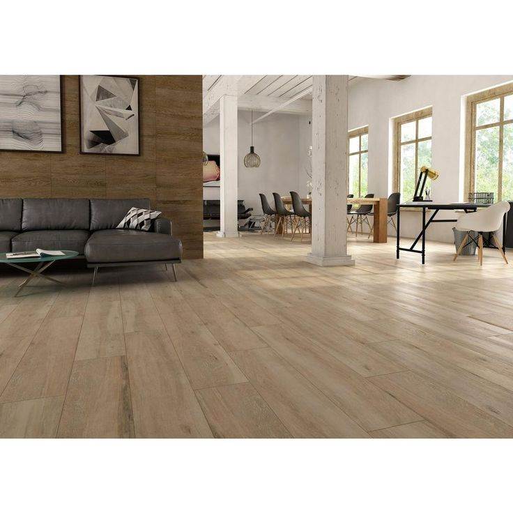 Truewood Cream Wood Plank Porcelain Tile 10in. x 47in
