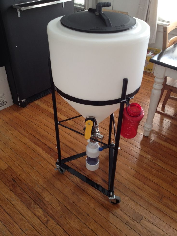 Plastic Conical Fermenter Chaos Brew Club Brewing