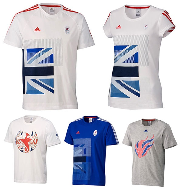 Team GB adidas London 2012 Paralympic clothing and accessories range.