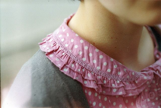 Pink. Gray.: Polka Dots, Sweet, Vintage Pink, Clothing, Polkadot, Peter Pan Collars, Posts, Heather Grey, Ruffles