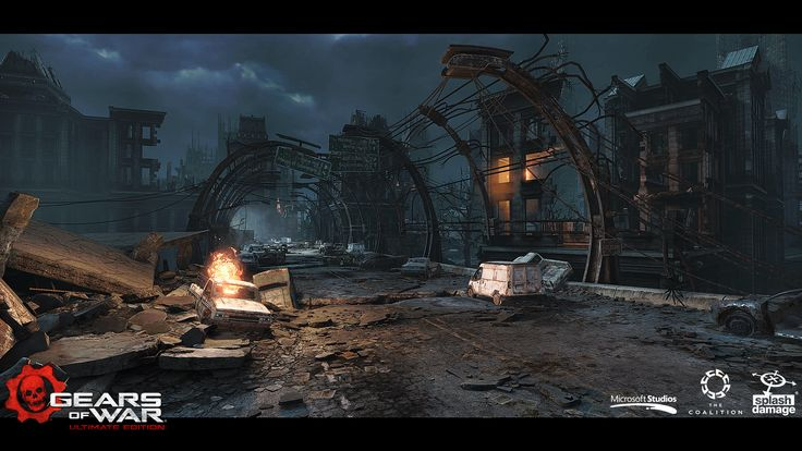 I am very proud to say I was an environment artist that worked on Gears of War: Ultimate edition. Myself and a group of friends worked extremely hard to make the environments in Gears what it is today. One of the responsibilities was world building, which involved stripping down the original maps to BSP blockout and using this as a platform to create entirely new maps based on new Art direction. Another responsibility I was tasked with was to create a few assets which were used throughout…