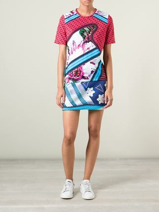 Mary Katrantzou X Adidas Originals アブストラクト柄 Tシャツ