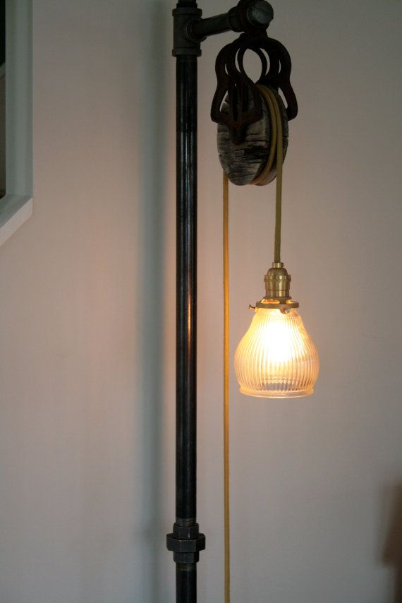Custom vintage industrial floor lamp industrial floor for How to make an industrial lamp
