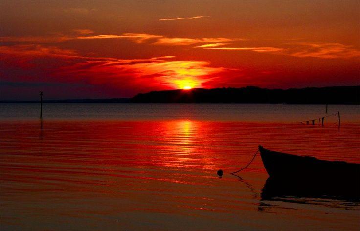 Gespensterwald Germany   sunset Baltic Sea, Germany