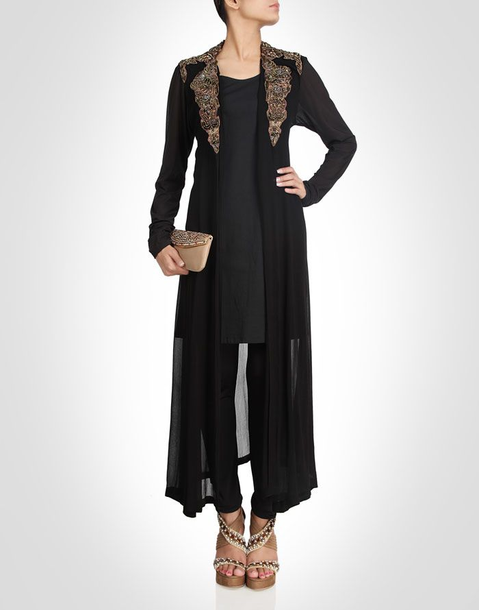 suit with jacked enriched with zardozi. Shop Now: www.kimaya.in.