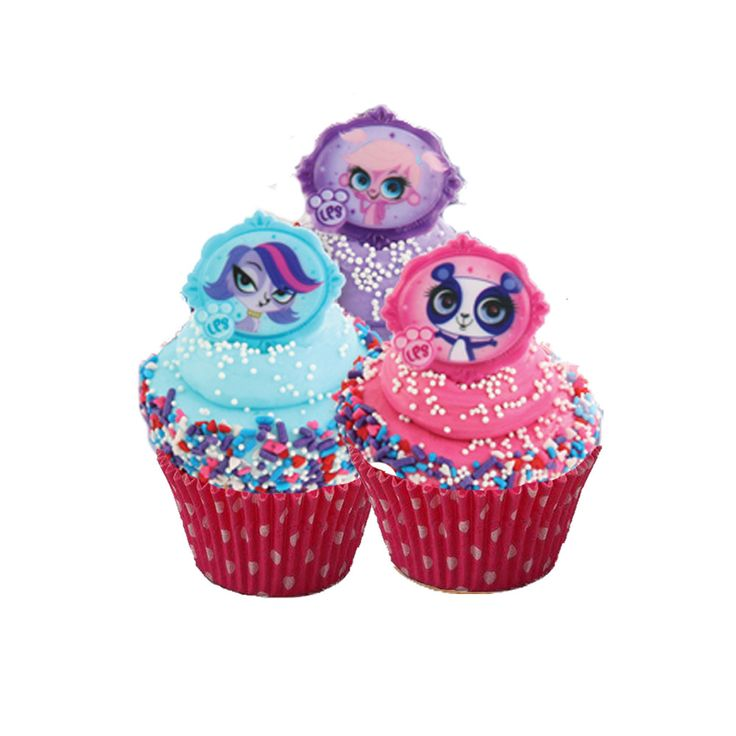 Cupcake Favor Rings - Littlest Pet Shop (24)