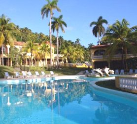 #Hotel Porto Santo #Baracoa #Cuba blends elements of a luxurious city center hotel with the enveloping nature of Baracoa in Cuba