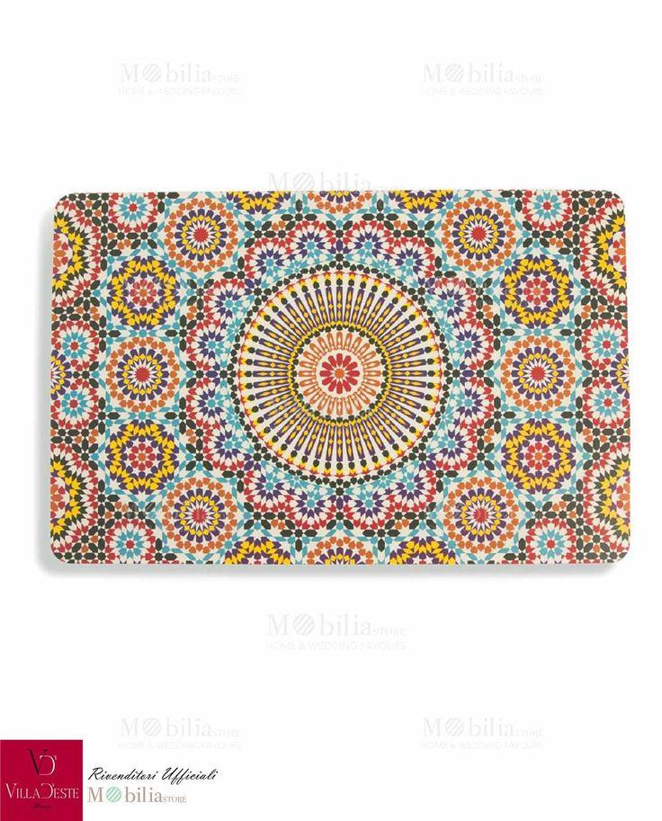 Apparecchia la tavola con le tovagliette Marrakech, per un effetto unico, eccentrico e colorato. Promo su Mobilia Store.