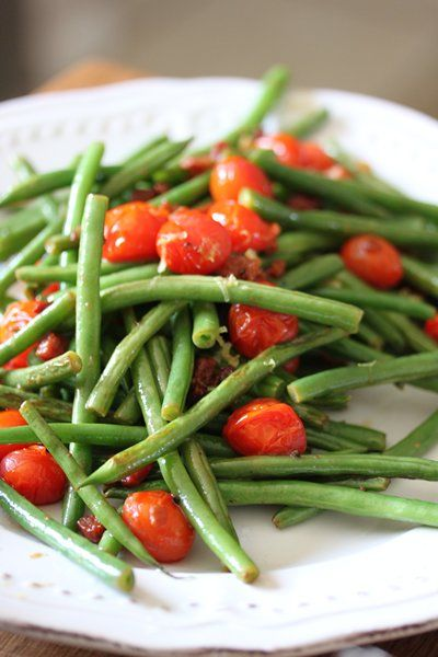 Braai day! Sumptuous sides for the braai | Sautéed green beans with rosa tomatoes and crispy pancetta