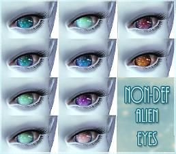 """Mod The Sims - """"Nebula"""" - 10 Non-Default Alien Eyes (Also for humans!)"""