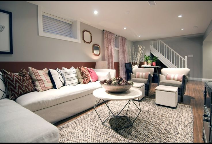 17 Best Ideas About Basement Living Rooms On Pinterest