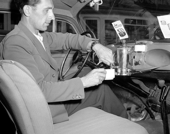 Dashboard coffee percolator was going to be standard issue, but then we got that asshole Harry Truman.