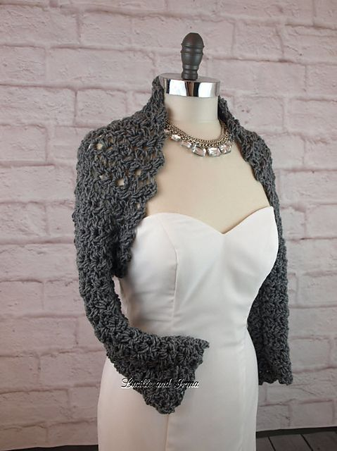 Ravelry: Lacey Crochet Shrug pattern by Janet Brooks