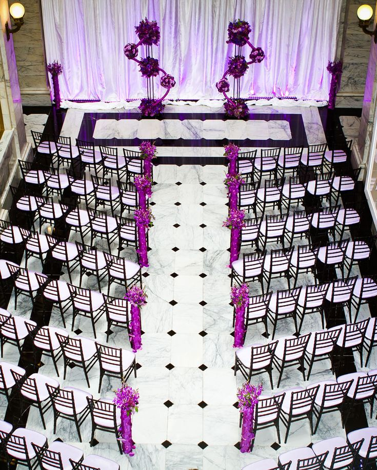 73 best images about black white purple wedding on - White and purple decorations ...