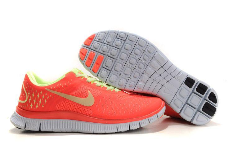 Nike Womens Shoes Nike Free 4.0 V2 Orange-Green $59.00