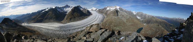 Aletschgletscher vom Eggishorn  Aletschgletscher Aletsch Glacier Glaciar Alps Alpes