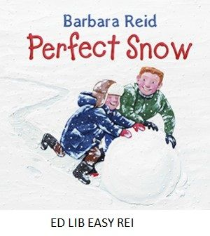 Perfect Snow - Barbara Reid, photos by Ian Crysler. 'At recess the schoolyard is full of happy kids. Scott is making snowmen. Jim is working on the world's greatest snow fort. At lunchtime they join forces ... to create a perfect snow surprise!'