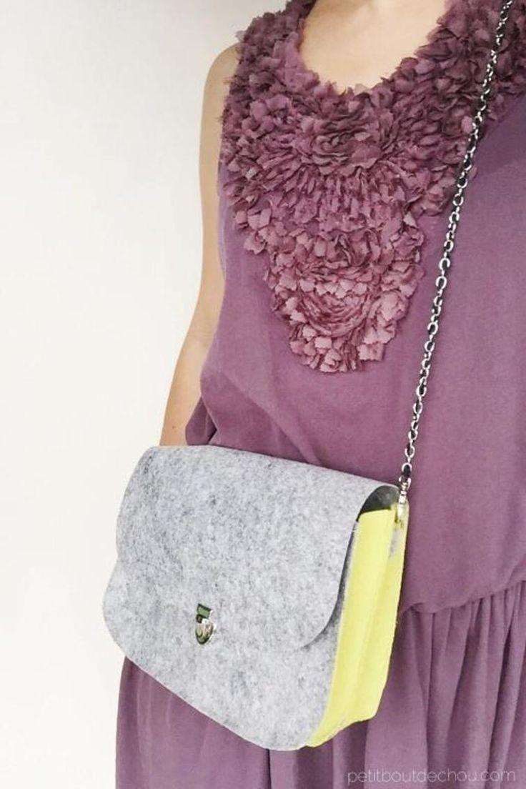 DIY: 10-minute Felt Clutch Bag | Craftsy