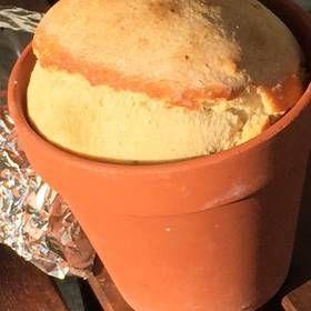 Chléb pečený v kvěináči