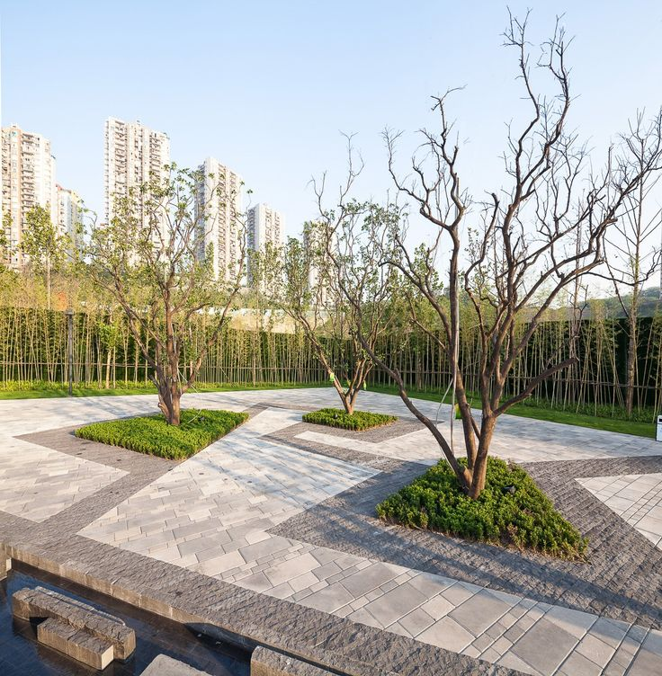 Paving at Fengming Mountain Park designed by Martha Schwartz Partners   China >> www.shapedscape.com ~ Landscape Architecture Matters <<