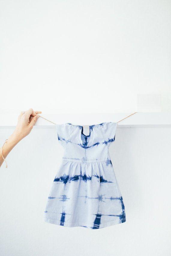 Baby Shibori Dress by IndigoMoonLove on Etsy https://www.etsy.com/listing/228837177/baby-shibori-dress