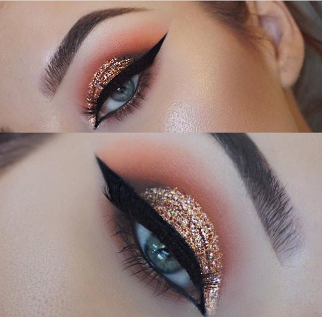 Way too many feels over this look @makeupby.lyssa defined her crease with the 35O matte palette and packed on the glitter for a look we can't help but adore #MorpheBabe