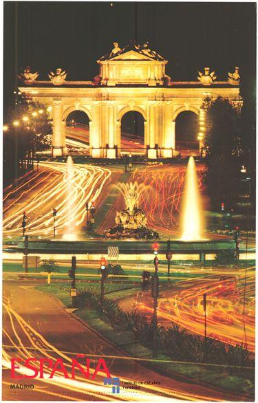La Puerta de Alcala de Madrid, Spain, en un cartel de #turismo del año 1974 - via #Viajology