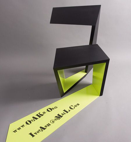 hope to build an exhibition booth like this someday. reality = it's a chair.