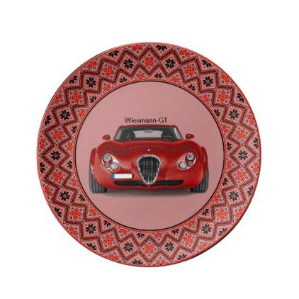 Old timer as Dekoteller Porcelain Plate - home gifts ideas decor special unique custom individual customized individualized