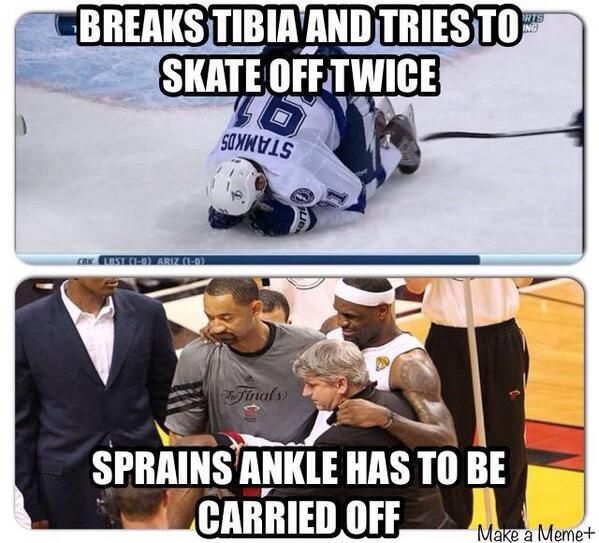 once again proving that hockey players are the toughest athletes in the whole world of sports...all arguments against that belief are invalid!