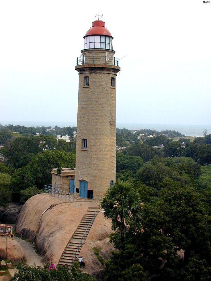 Mahâballipuram, Tamil Nadu, IndeIndia's east coast. Built atop a large rock at Mahabalipuram, about 65 km (40 mi) south of ChennaiIndia12.615285,80.191816