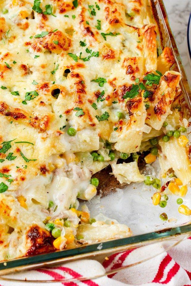 Creamy Tuna Pasta Bake BakeStoreClassicCupboardsPasta RecipesBakingPizzaMealsKitchens