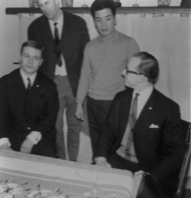Rinus Schulz with Kenji Kurosaki sensei