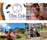 CLAY CAFE makes an ideal children's birthday party  school outing venue. Each child is given the chance to indulge in their own personal masterpiece, and each parent is given the golden opportunity to sit back and enjoy, leaving all the mess and fuss to us! A garden and playground await the children outside so that when they are finished painting, there is still plenty to explore.