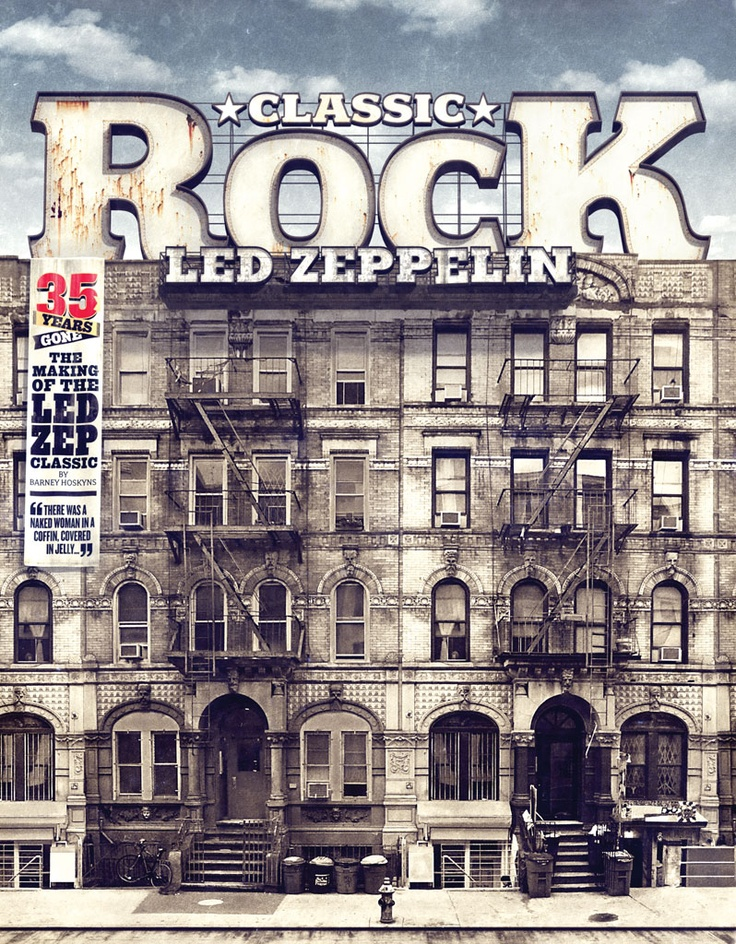 Classic Rock Magazine Cover Physical Graffiti Led
