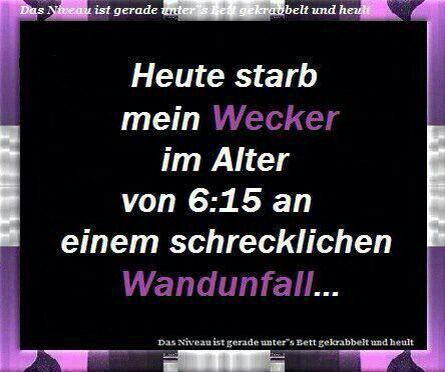 Wecker ...
