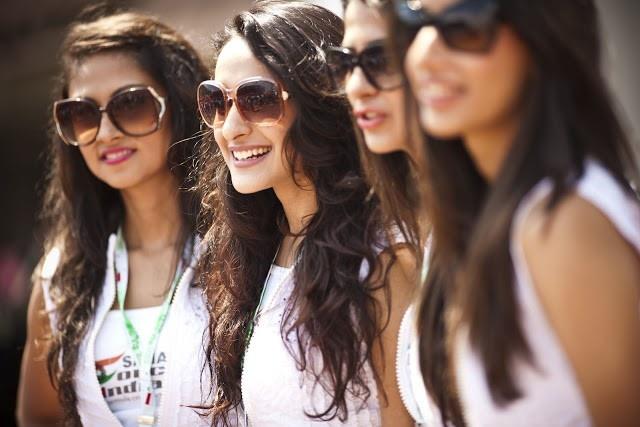 #SaharaForce #IndiaF1 #GridGirls
