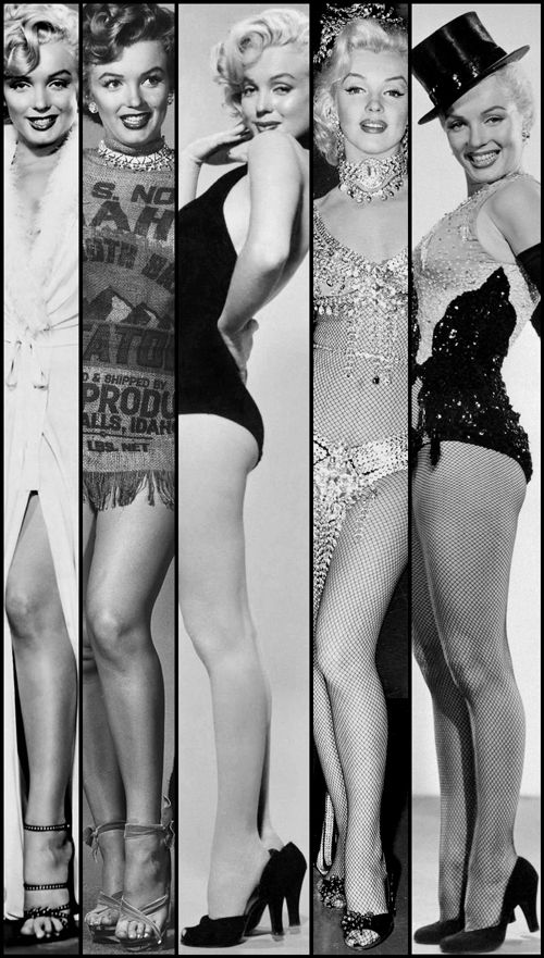 Five Marilyn Monroe images in one.            (via TumbleOn)