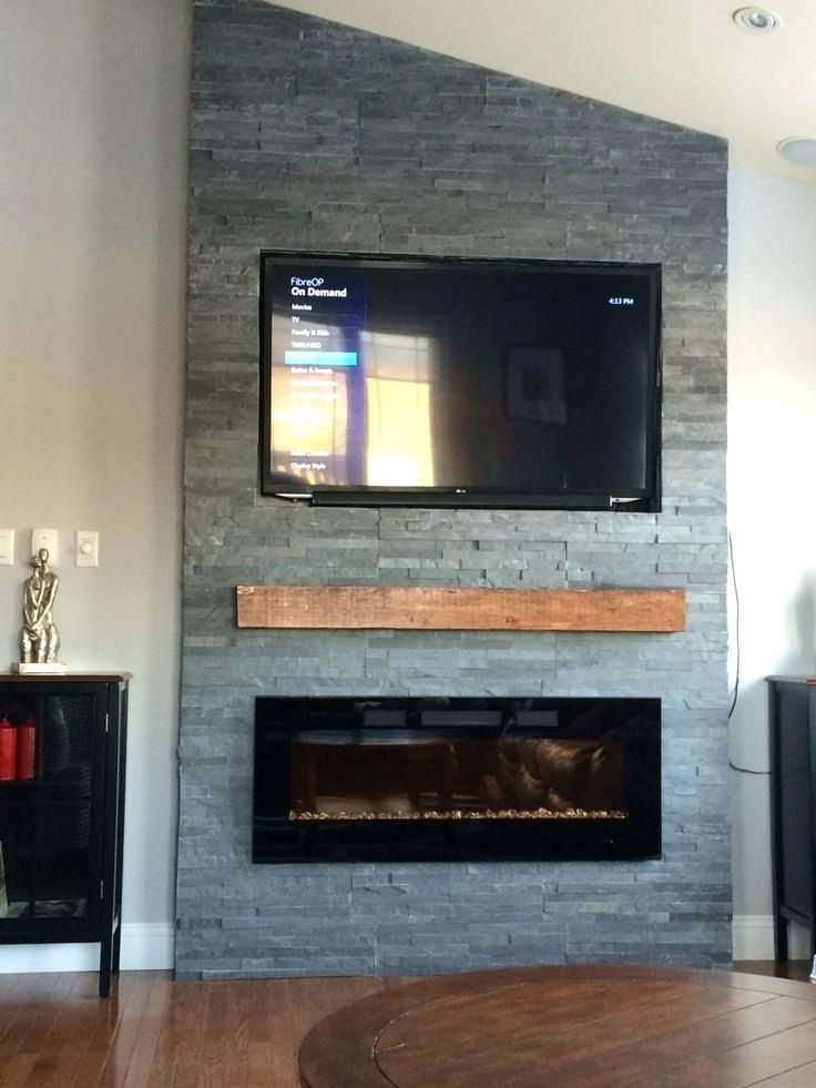 Stone Fireplace With Tv Full Size Of Living Fireplace