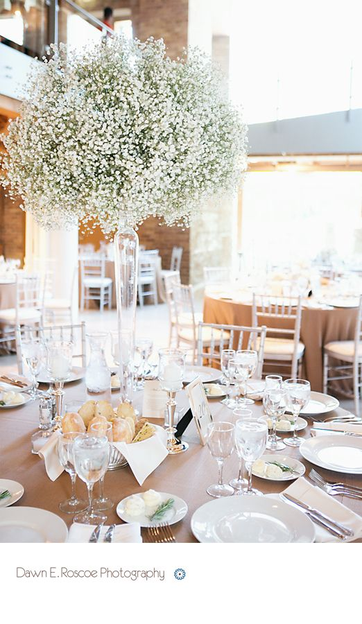 Baby's breath wedding centerpieces.