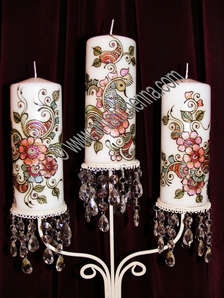 Mehndi Candles Personalised : Best candle henna images on pinterest candles