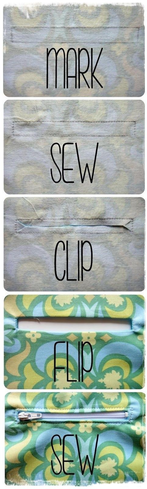 How To Sew A Pocket Zipper | DIY & Craft Ideas